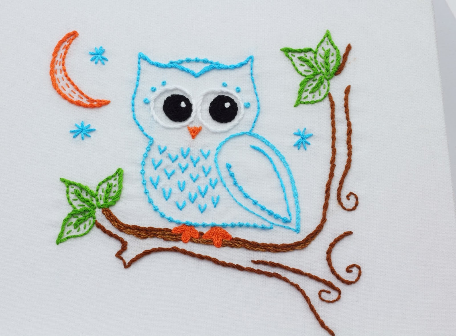 Big B Owl Embroidery Pattern