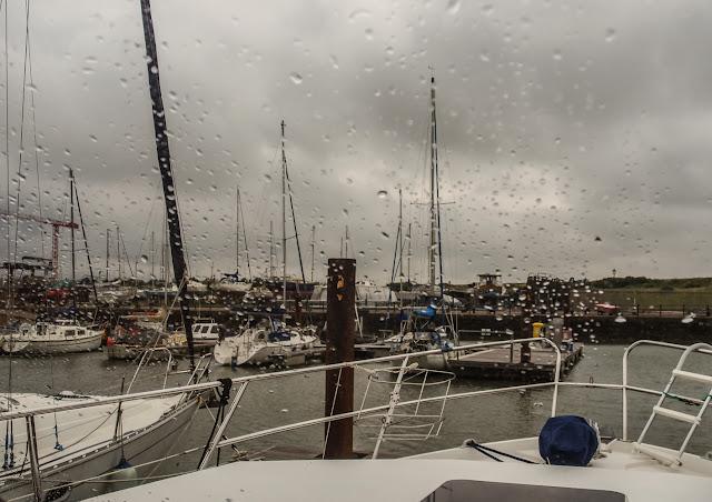 Photo of rain on Sunday afternoon