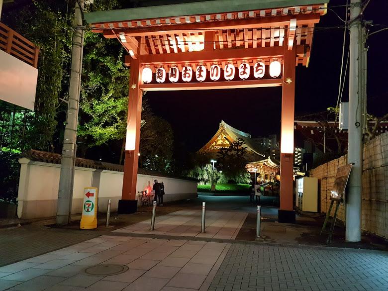 夜晚往淺草寺的側門