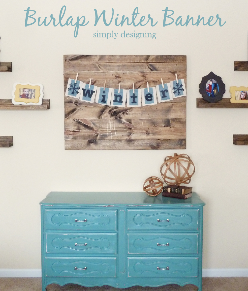 Burlap Winter Banner | #crafts #burlap #banner