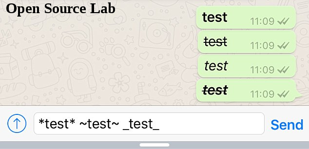 Cara Membuat Tulisan Whatsapp Tebal, Miring dan Dicoret