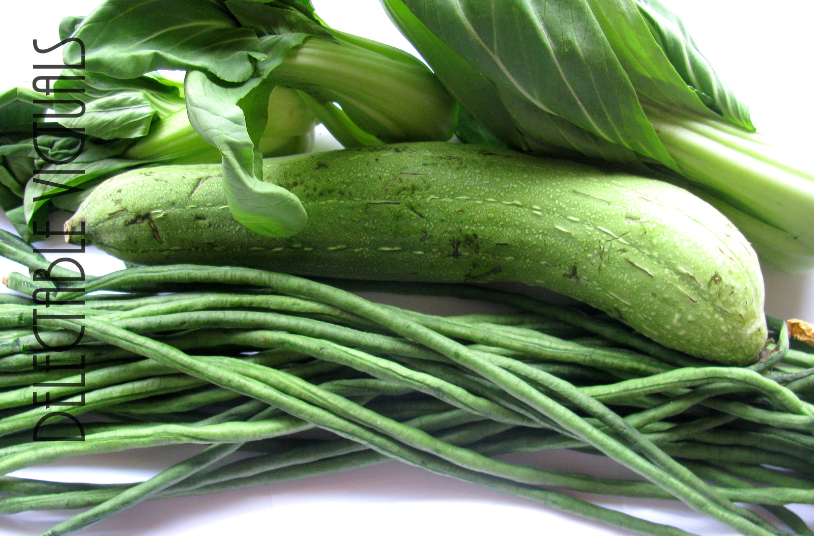 Delectable Victuals: Luffa, Snake Beans, Baby Bok Choy - photo#23
