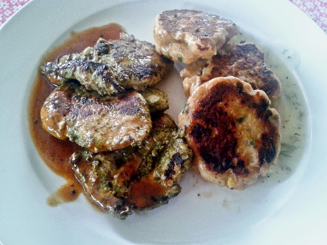Jerk Spiced Chicken and Fish Cake
