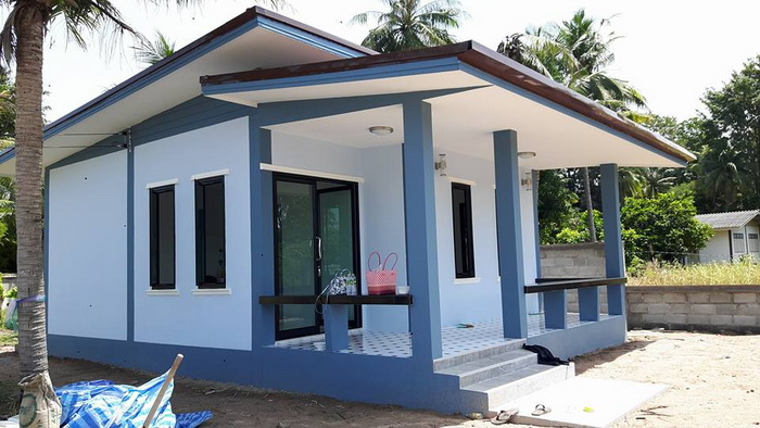 This house size is 6 × 8.5 meters. The building cost is 500,000 baht (excluding furniture). Perfect for home or small family.    This house is low floor. Stonework divider decorated with blue turquoise. Get with the door frame and dark aluminum. The rooftop is secured with simulated wood. Two-layered rooftop. SOURCE: Sasiton Sukjaroen  This house has a total lot area of 37 sq.m. containing 2 rooms, 1 bathroom, family room or living room and parking area before the house. This is a small house for small families or for couples. SOURCE: vivaecomodern If you're looking for a decent sized home, this home is for you. This small home comprises of 2 rooms, 1 washroom, 1 kitchen and 1 front room with patio or terrace. This house has a total lot area of 64 sq.m SOURCE: househabitat    SEE MORE:    Simple One Story House In Contemporary Style With Blueprint For Simple Living Homes   We've gathered a couple of our most loved house designs with blueprint homes and floor plans that will make the perfect habitation absorbing everything. Our gathering house designs include both single story house and contemporary house designs.  Modern Style House Design Ideas: Find The Perfect Home Design For You.  One of the main benefits of constructing a new house is being able to choose a home floor plan that perfectly suits your needs. When it comes choosing your home design, a big decision you'll face is whether to go for a high-set or low-set design.  Modern Small House Plans And Layout: Step by Step Construction  Today, constructing a small house is more popular than building a huge house. Building it yourself will spare you cash and guarantee that you're getting a great home.