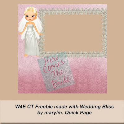 Wedding Bliss Ct Freebie QP#1 from Marylm