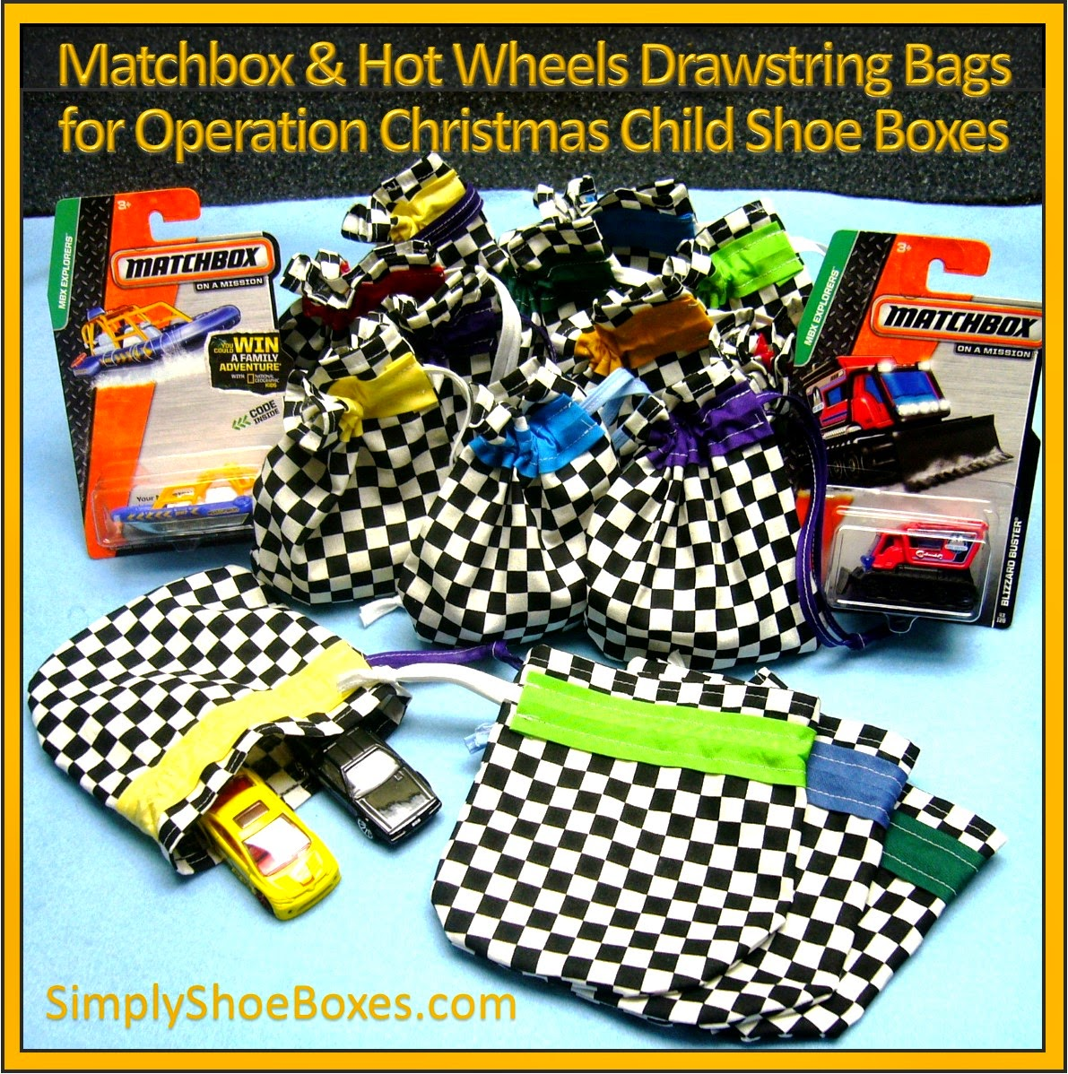 Hot Wheels car drawstring bag