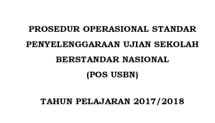 Download POS USBN Tahun 2018 PDF