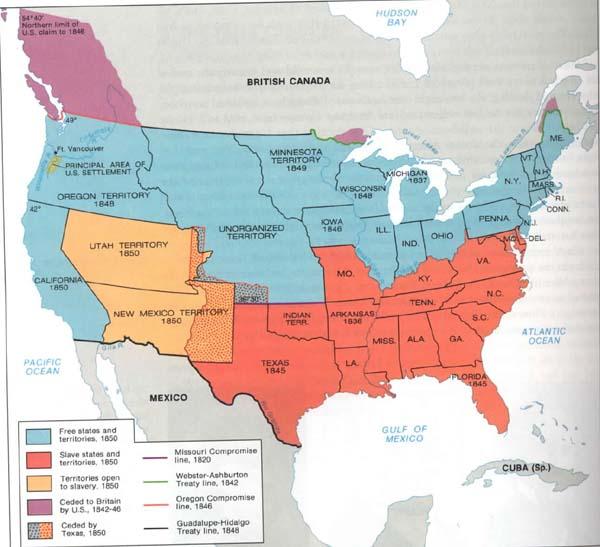 Map Of Usa 1850.Map Usa 1850