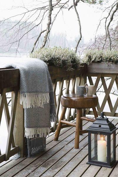 great cozy winter terrace