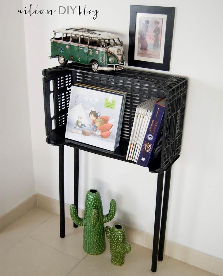 mueble libreria cajas frutas diy plastic fruit box cofee table