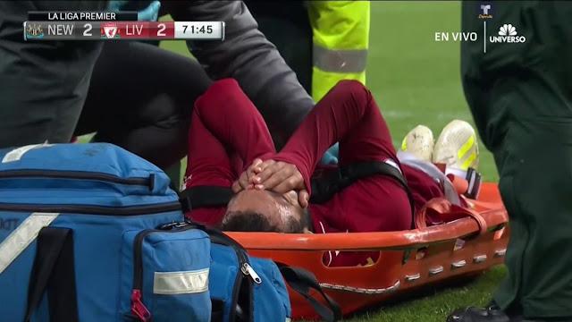 Салах получил удар в голову и не смог доиграть матч с «Ньюкаслом»