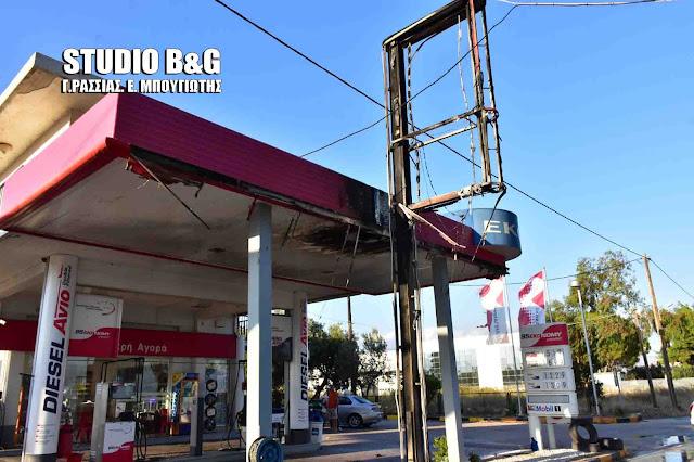 Αργολίδα: Πυρκαγιά σε βενζινάδικο στη Νέα Κίο (βίντεο)