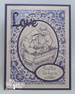 Our Daily Bread Designs Stamp Set: Our Savior's Birth, Our Daily Bread Designs Paper Collection: Christmas Card  2016, Our Daily Bread Designs Custom Dies: Pierced Rectangles, Pierced Ovals, Ovals, Layered Lacey Ovals, Faith Hope and Love