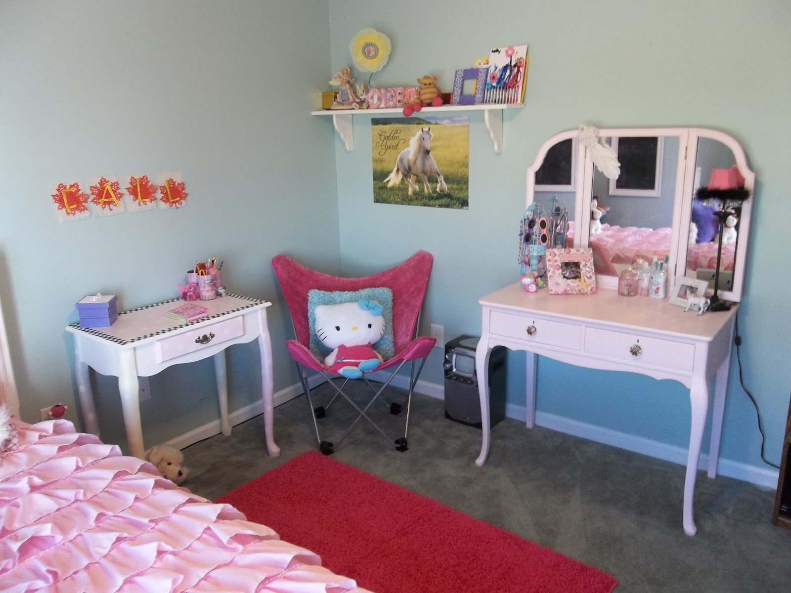 Vintage, Paint and more... little girls room done with painted thrifted furniture