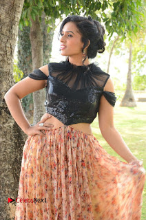 Actress Chetana Uttej Stills in Floral Long Skirt at Pichiga Nachav Movie Press Meet  0030.JPG