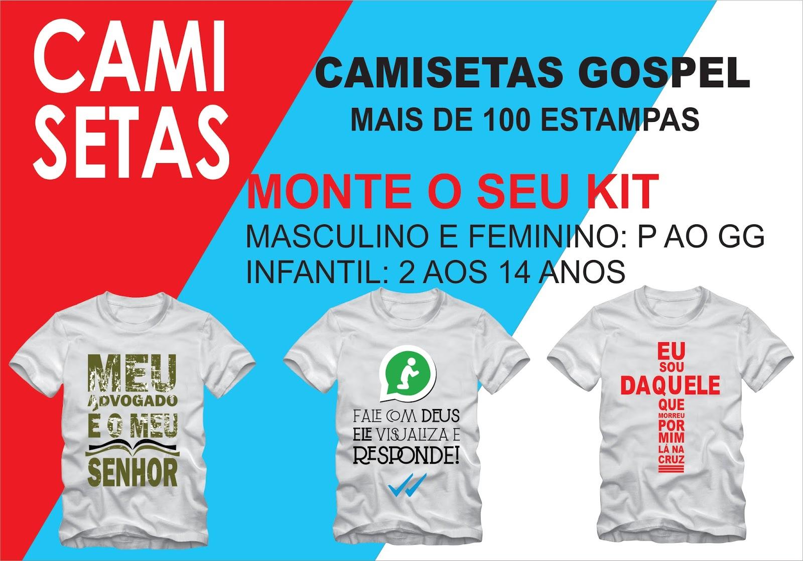 f419052336 PROJETO DE DEUS - CAMISAS PERSONALIZADAS  KITS DE CAMISETAS ...