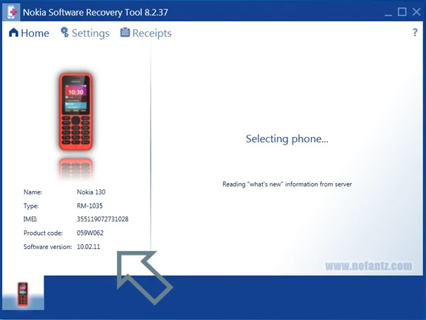 Cara Flashing Bahasa Indonesia Nokia 130 RM-1035
