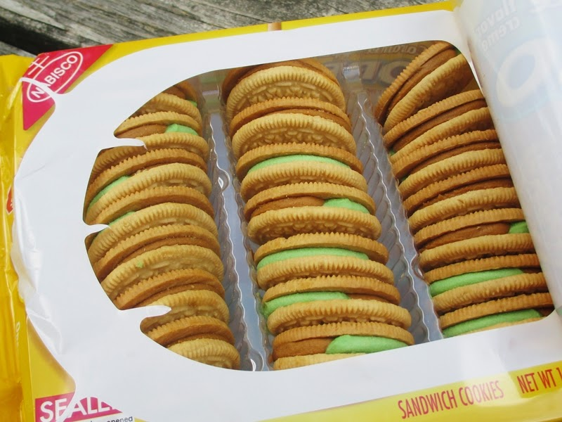 Open package of Caramel Apple Oreos