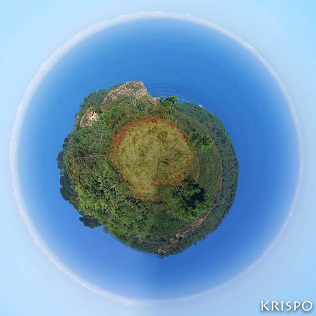 imagen circular de jaizkibel y mar