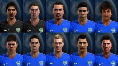 Facepack Boca Juniors 2016 - Liga Argentina Pes 2013