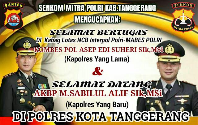 Kapolres Kota Tangerang AKBP M Sabilul Alif, SH, SIK, M.Si