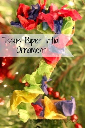 tissue paper christmas ornament