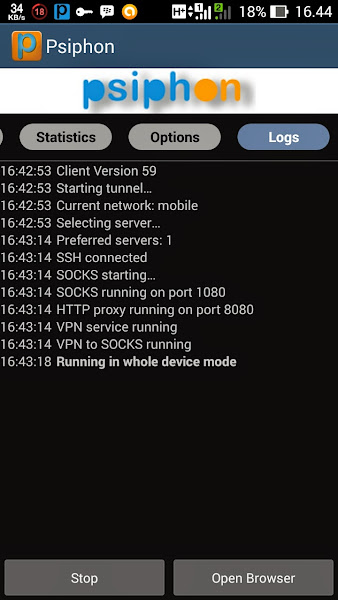Tutorial Internet Gratis Psiphon di Android Langkah 4