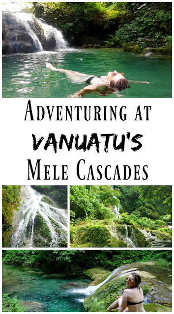PIN FOR LATER: Adventuring at Vanuatu's Mele Cascades in the South Pacific Islands