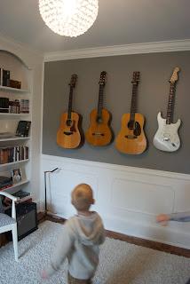 DIY Wall Mount Guitar Holder -