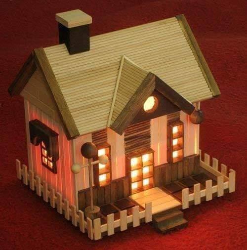 Rumah Cantik Minimalis Dari Stik Es Krim