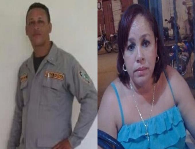 primer teniente Juan Antonio García Disla y su cónyuge Nelly Xiomara Rivas