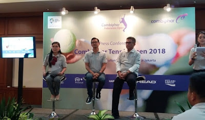narasumber yang hadir dalam konferensi pers combiphar tennis open 2018 nurul sufitri