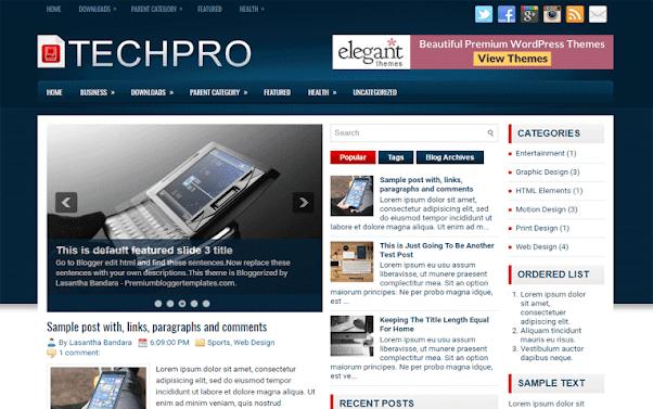 TechPro Free Blogger Template