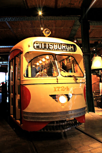Climbable trolley car at the Heinz History Center in Pittsburgh