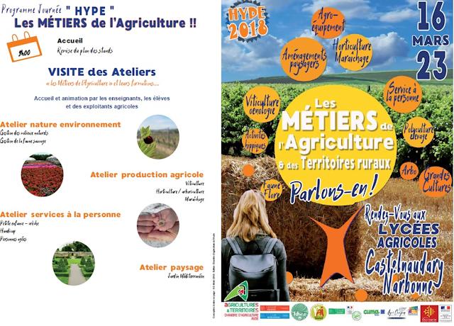 journée hype, orientation professionnelle, agriculture, formation, apprentissage, viticulture, travaux paysagers, maraîchage, horticulture, agriculture bio