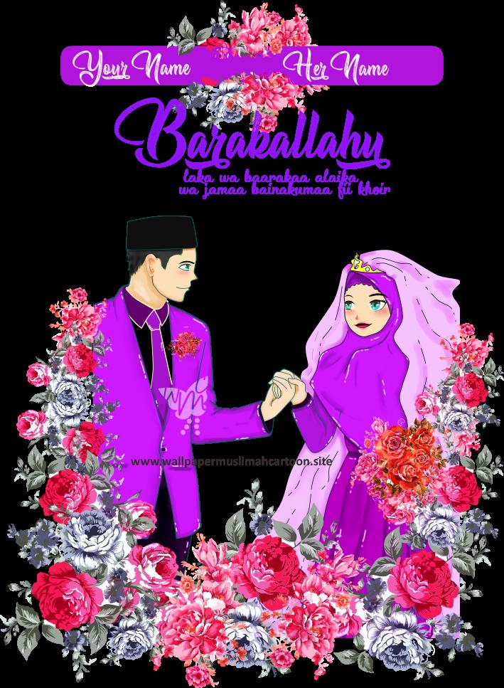 3 Wallpaper Wedding Muslim Muslimah Cartoon Hd