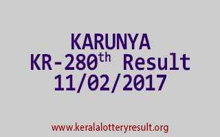 KARUNYA KR 280 Lottery Results 11-02-2017