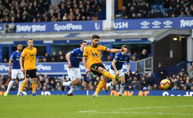 Everton 0 - 1 Ruben Neves  Wolverhampton Wanderers (Wolves)