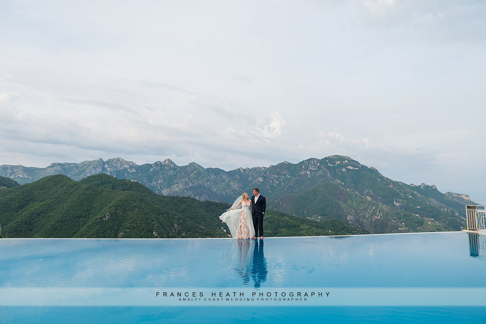 Wedding infinity pool hotel Caruso