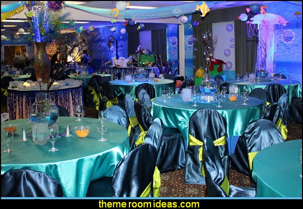 underwater theme party decorating under the sea theme party table