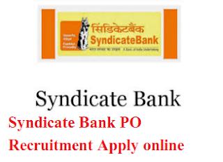 Syndicate Bank PO Recruitment 2017