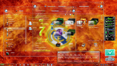 THEME WINDOWS 7 REAL MADRID GLASS