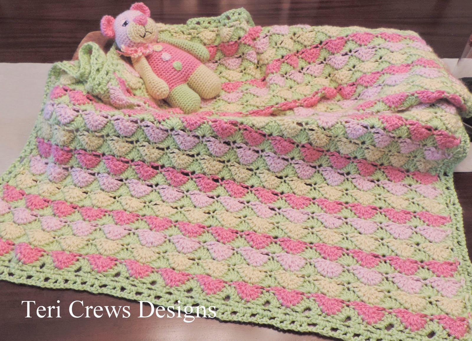Teri S Blog New Petal Baby Blanket And First Bear Crochet