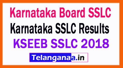 Karnataka SSLC Results 2018 Karnataka Board SSLC Results 2018