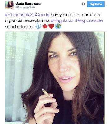 #ElCannabisSeQueda tweet María Barragans