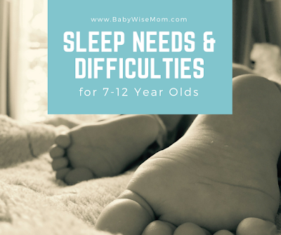 Sleep Needs and Difficulties for 7-12 Year Olds