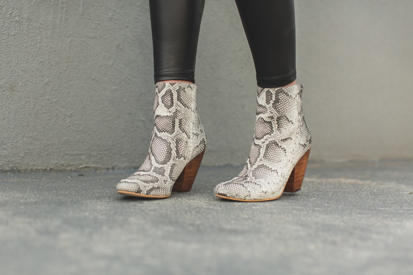 Snakeskin Booties, Leather Leggings, Corso Como