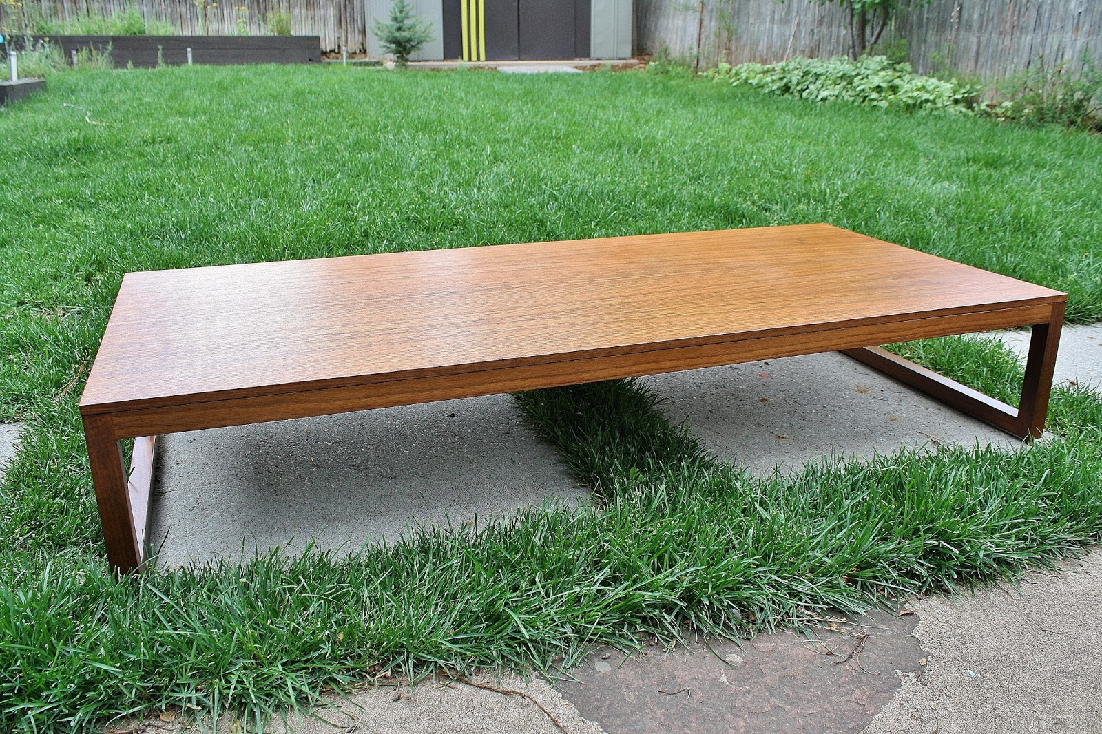 Modwerks: Low Minimalist Walnut Coffee Table from DWR