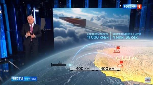 Rusia apunta sus armas nucleares hacia Estados Unidos.