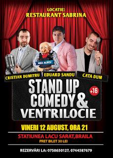 Stand-Up Comedy & Ventrilocie Vineri 12 August Braila